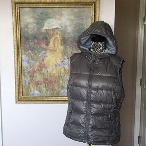 Women's Hooded Tangerine Quilted Puffer Vest (XL)